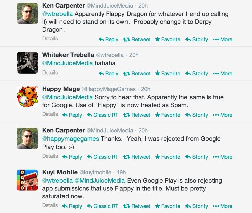 """Apple & Google Begin Rejecting Games With """"Flappy"""" In The Title"""