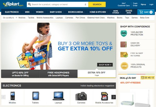 Flipkart Raises Another $160M For Its Amazon-Style Indian E-Commerce Marketplace