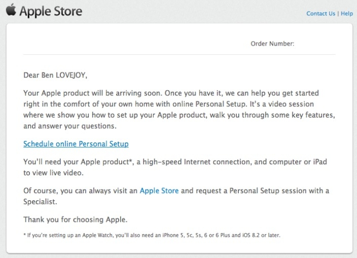 Apple offers online personal setup appointments as early Apple Watch buyers take delivery