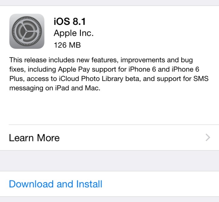 Features of iOS 8.1 - Magazine cover
