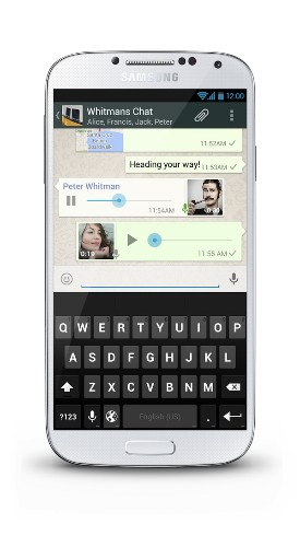 Voice Messaging Comes To Whatsapp