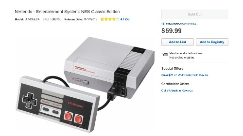 Getting an NES Classic Edition today may be tough