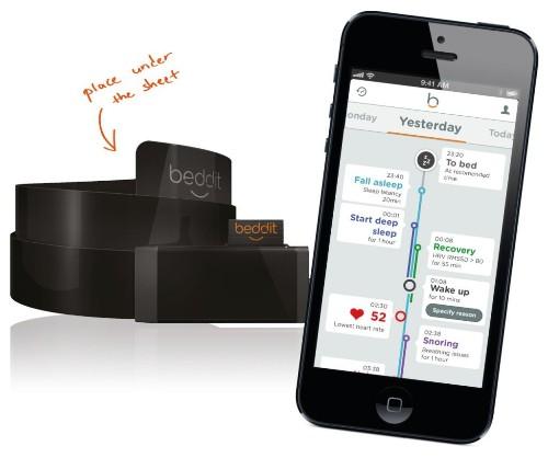 Bedditは、ベッドに貼った超薄膜センサーを用いるスリープトラッカー