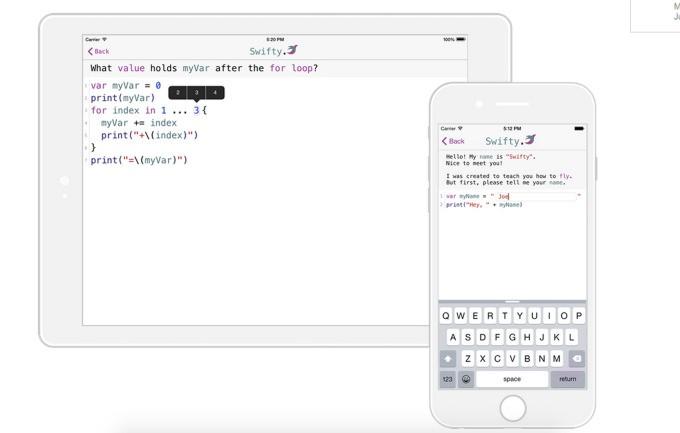 Swiftyは、iPhone一つでSwift言語が学べる