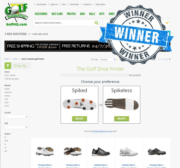 Shopping Quizzes is a quiz-based recommendation engine for e-commerce sites