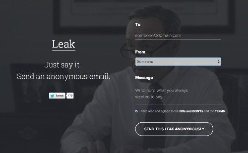Leak Lets You Send Anonymous Emails