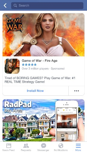 Facebook's Money-Making Solution To App Discovery? A Whole Feed Of Install Ads