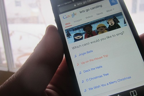 Turn Your Smartphone Into A Caroling Karaoke Machine With This Google Easter Egg