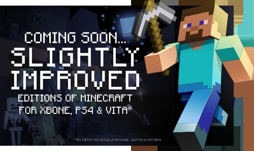 Minecraft Xbox One, Vita And PS4 Edition Arrive This August For $19.99