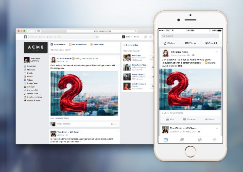 Facebook At Work is launching next month