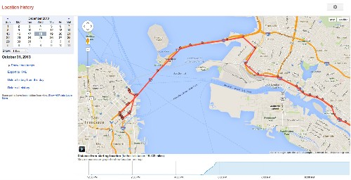 Google's Location History Browser Is A Minute-By-Minute Map Of Your Life