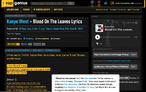 Google Puts Rap Genius Back Atop Searches, Favoring Smart Results Over Holding A Grudge
