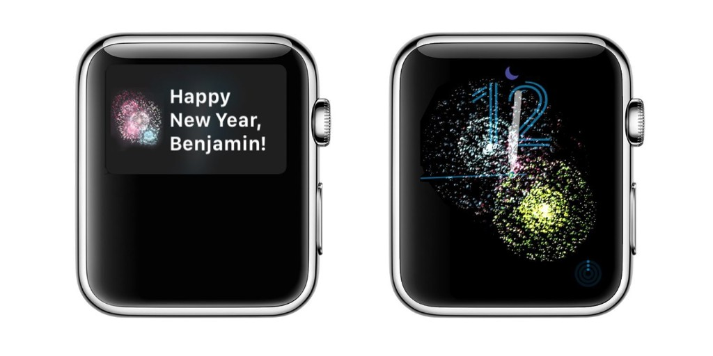Apple Watch celebrates the New Year with fireworks on the clock face