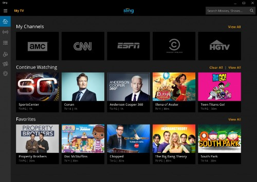 Sling TV's streaming service for cord cutters hits Windows 10