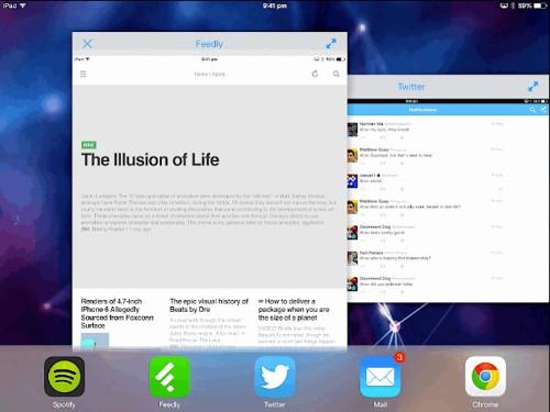 Apple、iOS 8でiPadにマルチタスクと画面分割を導入するらしい