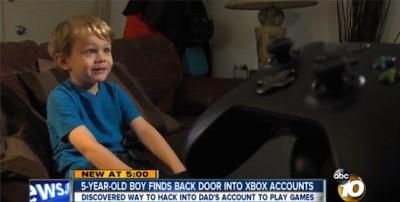 5歳の子がXbox Oneのセキュリティ破りに成功–Microsoftから感謝状