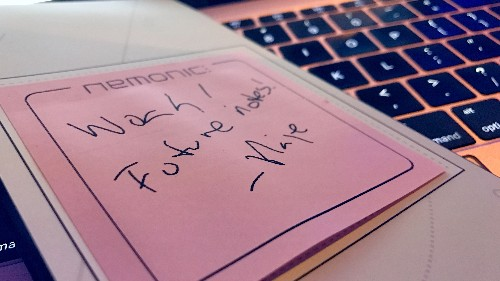 Nemonic is like Post-It notes with IoT smarts