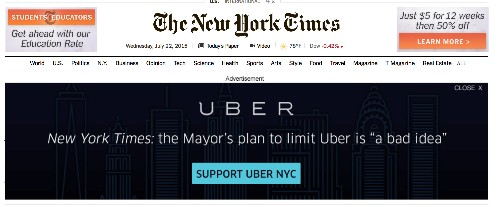 Uber Releases Hourly Ride Numbers In New York City To Fight De Blasio