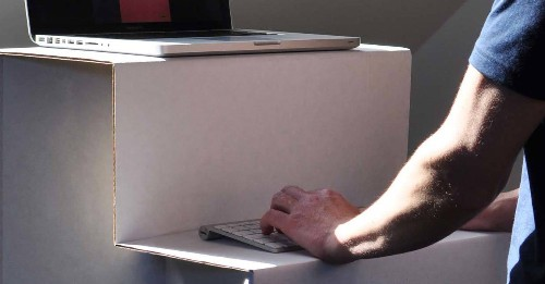 Screw Those $300 Standing Desks. This Cardboard One Is $25