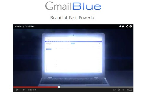 "Google Introduces ""Gmail Blue"" — It's Completely Blue, Because Brown Was a ""Disaster"""