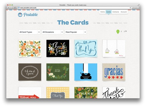 """Postable Offers An Alternative To The Handwritten """"Thank You"""" Card, With Results That May Fool Your Nana"""