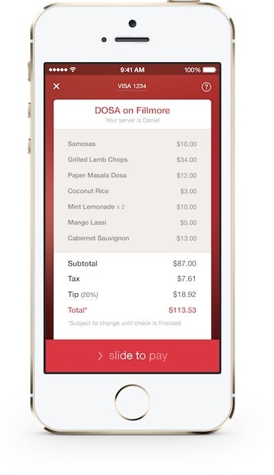 OpenTable Now Piloting Mobile Payments In San Francisco Restaurants