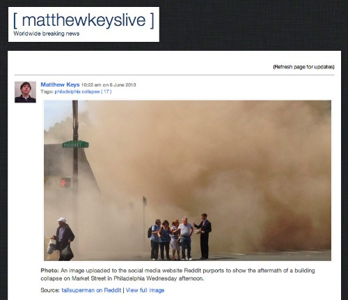 Fired Reuters Employee Previews No-Nonsense Premium Breaking News Site MatthewKeysLive