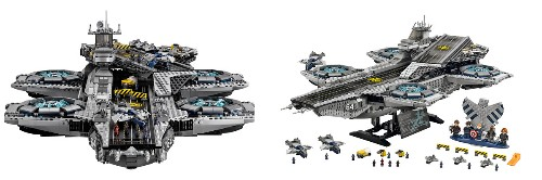 Check Out The Official Lego SHIELD Helicarrier Set