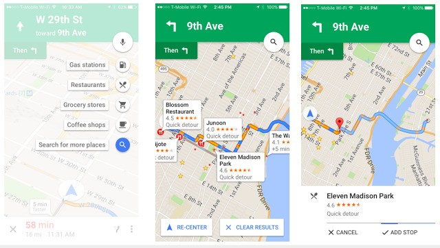 """Google Maps Brings Its """"Add A Pit Stop"""" Feature To iOS"""