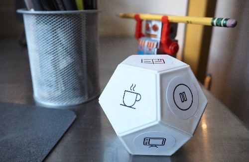 TimeFlip is a time-tracking gadget simple enough that I might actually use it