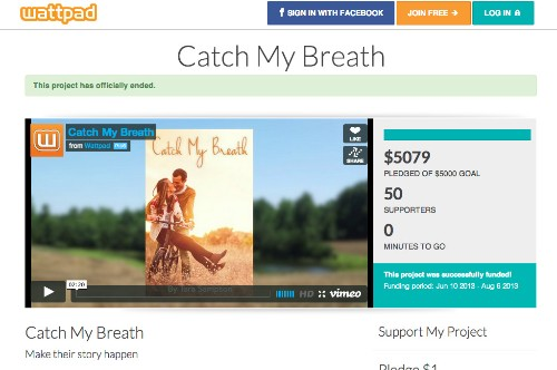 Wattpad Launches New Self-Publishing Crowdfunding, First Revenue Model For The Social Network
