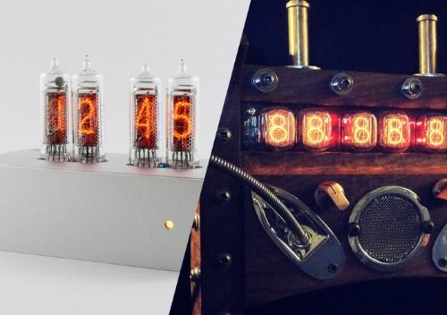今Kickstarter上ではニキシー管時計がフィーバーしている