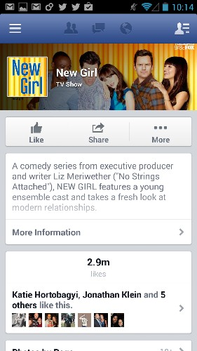 Facebook Adds Reminders For Upcoming TV Show Airings To Its Android App