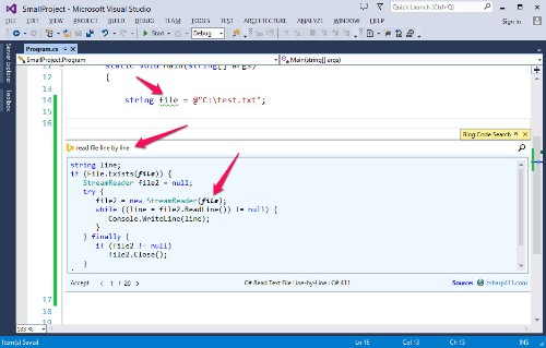 Microsoft Launches Smart Visual Studio Add-On For Code Snippet Search