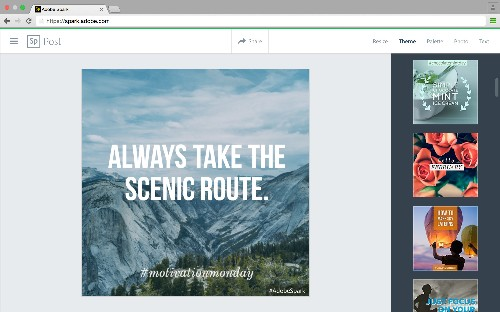Adobe debuts Spark, a suite of mobile and web tools that lets anyone create visual content