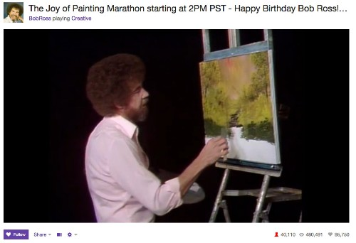 The Joy Of Watching Paint Dry On Twitch