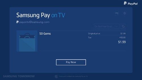 Samsung Pay Heads To Samsung's Smart TVs