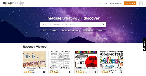 Amazon grows its education footprint with Amazon Inspire, a free platform for learning materials