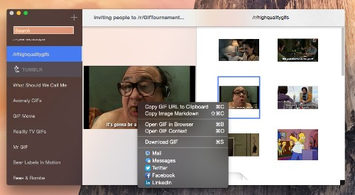 GIFs Is A Mac App For Finding The Best Animated Encapsulation Of Your Current Emotion