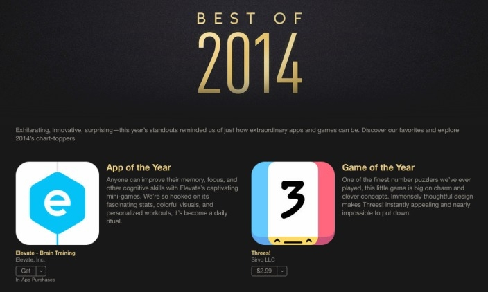 Apple announces iTunes Best of 2014: apps, music, movies, TV shows and books