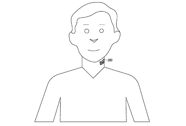 """Motorola Patent Points To Electronic Neck """"Tattoos"""" That Double As Microphones"""