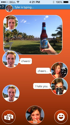 Hey Kids, React Messenger Lets You Send Your Own Winking Smilie Selfie With Every Text You Send
