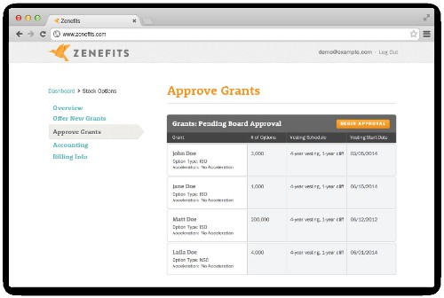 Zenefits Adds Stock Options To Its Cloud HR Platform