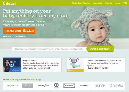 BabyList, A Universal Baby Registry Built By An Ex-Amazon Developer & Mom, Raises $650K