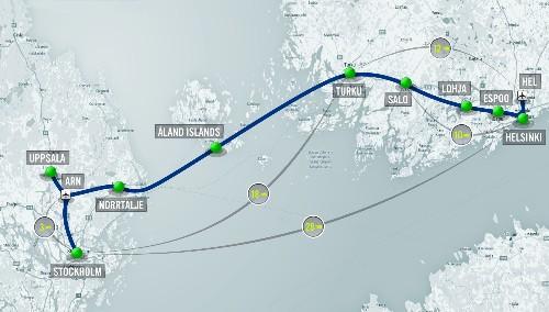 Hyperloop One proposes half-hour travel time between Helsinki and Stockholm