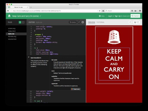 Mozilla Relaunches Its Thimble Online Code Editor For Teaching HTML, CSS And JavaScript