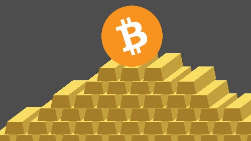 One bitcoin is now worth more than one ounce of gold