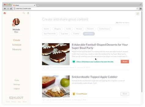 Klout Adds Content Sharing Recommendations To Help Improve Your Score