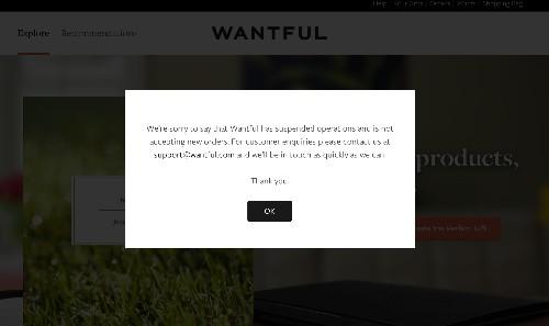 Personalized E-commerce Startup Wantful Shuts Down