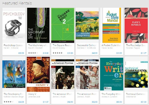Google Play Adds Digital Textbooks For Rent And Purchase